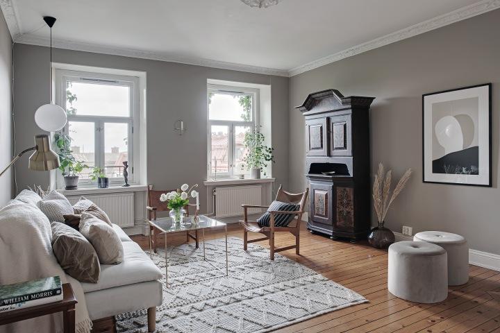 Atelier Krogbeck, golden livingroom